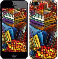 """Чехол на iPhone 5 Разноцветный витраж """"3343c-18-328"""""""