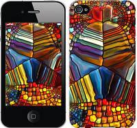 """Чехол на iPhone 4 Разноцветный витраж """"3343c-15-328"""""""