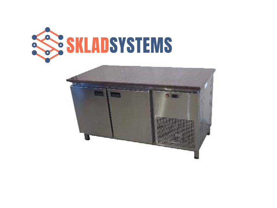 Холодильный стол с гранитной столешницей 2 двери, без борта