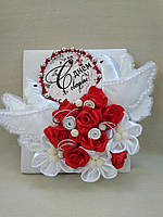 Открытка свадебная поздравительная ручной работы с голубями