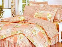 Постельное белье Ардеш сатин с оборками прованс ТМ WORD OF DREAM оранжевый пэчворк