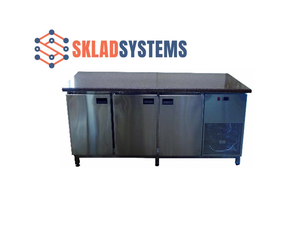 Холодильный стол с гранитной столешницей 3 двери, без борта