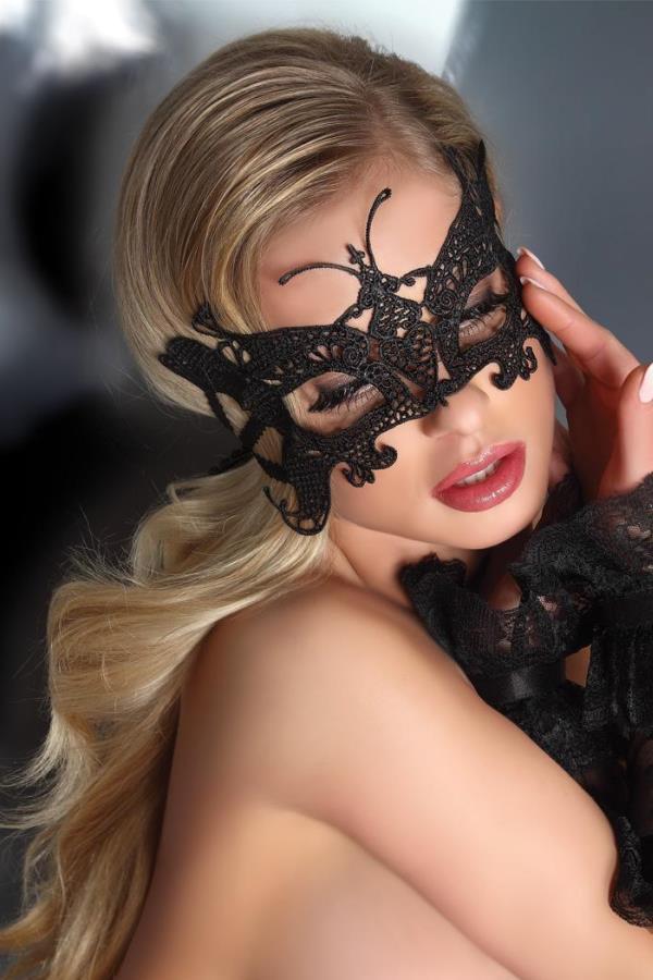 Оригінальна чорна мереживна маска А-1041