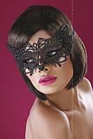 Красивая черная кружевная маска А-1040