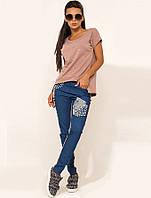 Женский костюм на лето с джинсами КТ-294