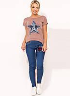 Женский костюм двойка с джинсами КТ-275, фото 1