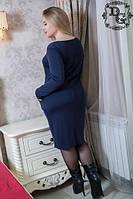 Стильное платье из плотного трикотажа