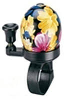 Звонок TW JH-808A1, пластик,с ударным рычагом под большой палец, черный под хохлому