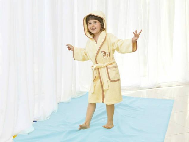 Детский махровый халат Пони  тм Идея , рост 116 см.
