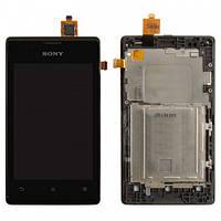 Дисплей для Sony Xperia E Dual C1605 Original с сенсорным экраном black Original