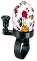 Звонок TW JH-808A4, пластик,с ударным рычагом под большой палец, белый под хохлому