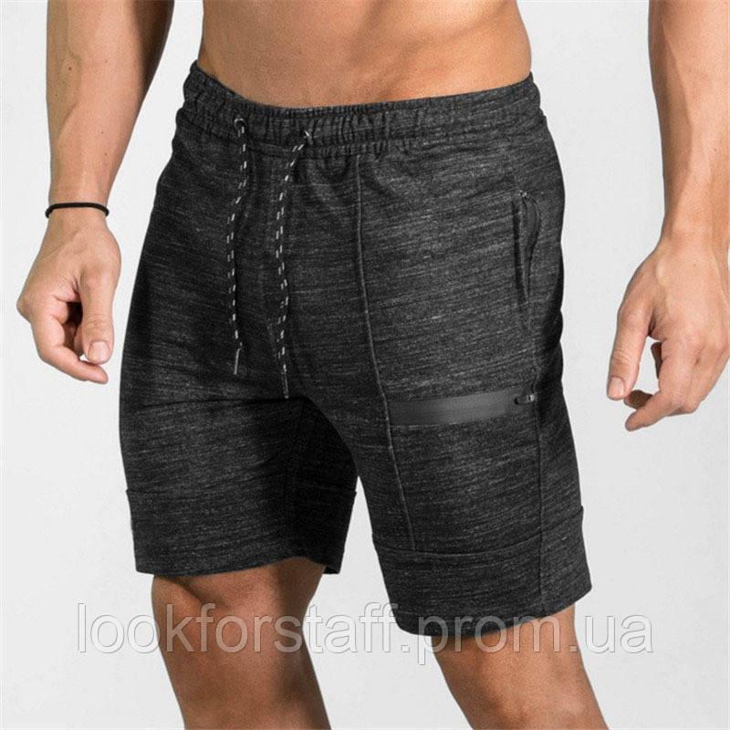 Летние мужские серые шорты
