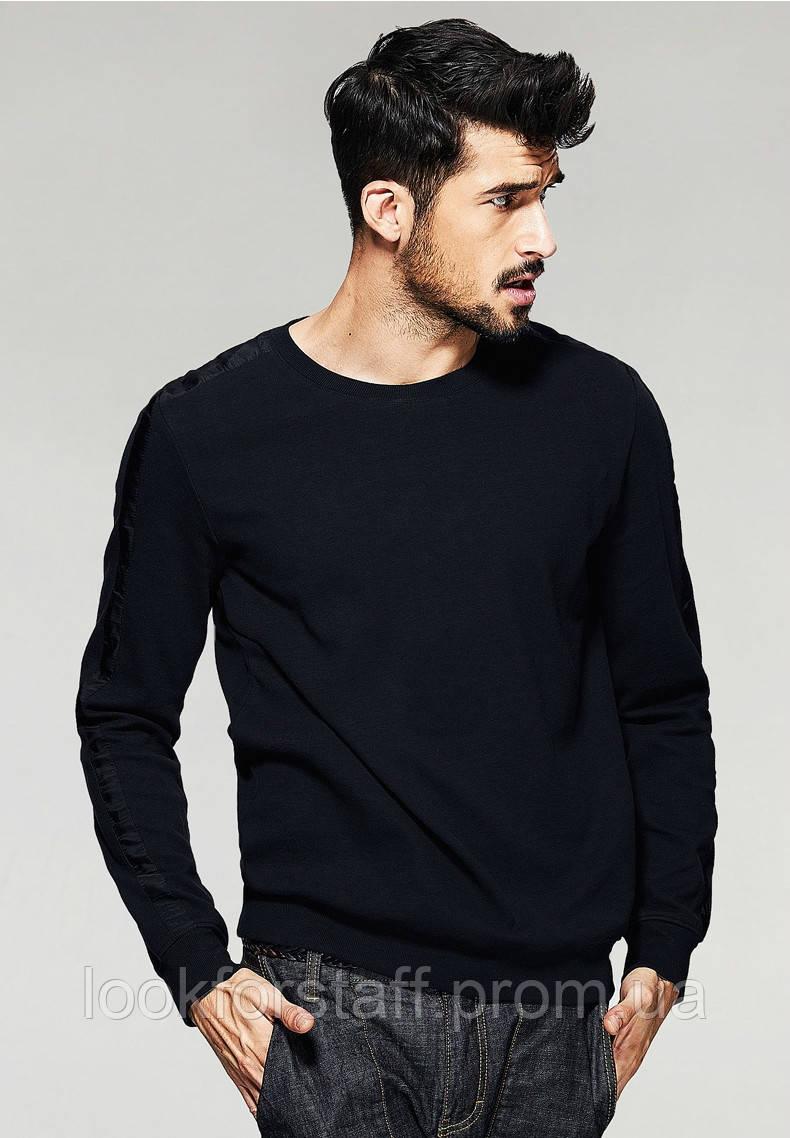 Классический черный мужской свитшот