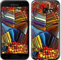 """Чехол на Samsung Galaxy A3 (2017) Разноцветный витраж """"3343c-443-328"""""""