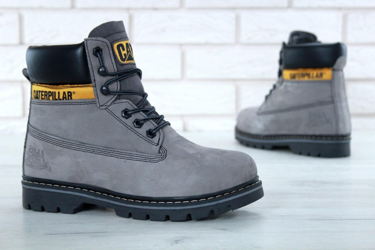 Ботинки с мехом Caterpillar Winter Boots Classic серого цвета