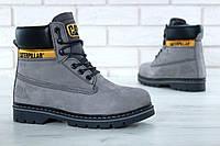 Ботинки с мехом Caterpillar Winter Boots Classic серого цвета, фото 1