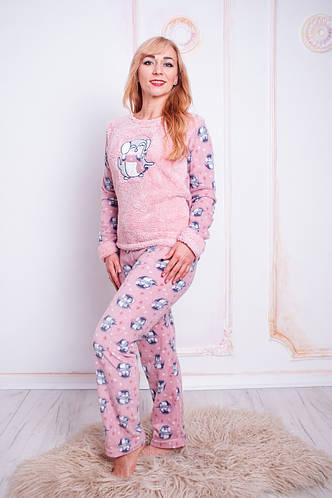 Женская махровая пижама с длинным рукавом   продажа 1edc208fb9792