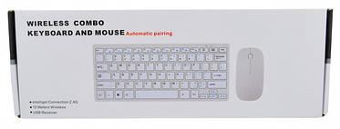 Беспроводной комплект (клавиатура и мышка) UKC 901 Серебряный, фото 3