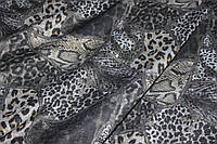 Ткань ангора принт,Лео. № 358