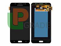 Дисплей для Samsung J710F Galaxy J7 (2016) + тачскрин, черный,  TFT, копия