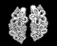 Серьги серебряные Цветы 41213