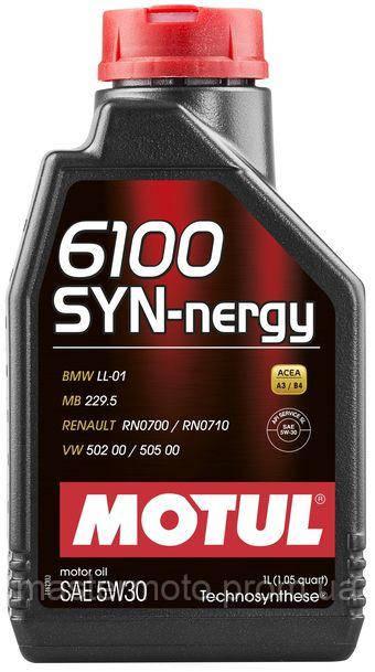 Масло моторное MOTUL  6100 SYN-NERGY SAE 5W40 (1L)/107975 MERCEDES, VAG, BMW,