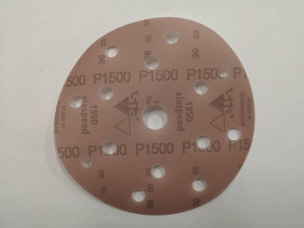 Абразивний круг - SIA 1950 8+6+1 отвір P1500 150 мм. (Рі 1500)
