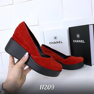 Туфли = Bahrain =, цвет: КРАСНЫЙ , материал: НАТУР. ЗАМШ , (11209)