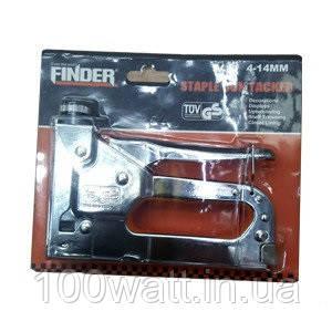 Степлер строительный с регулировкой 4-14 мм FINDER ST332