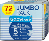 Babylove Premium Active Plus памперсы подгузники 5 junior 12-25 kg Jumbo Pack 72 шт - Германия