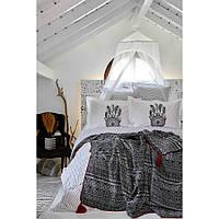 Набор постельное белье с пледом Karaca Home - Dream Catcher 2019-1 евро