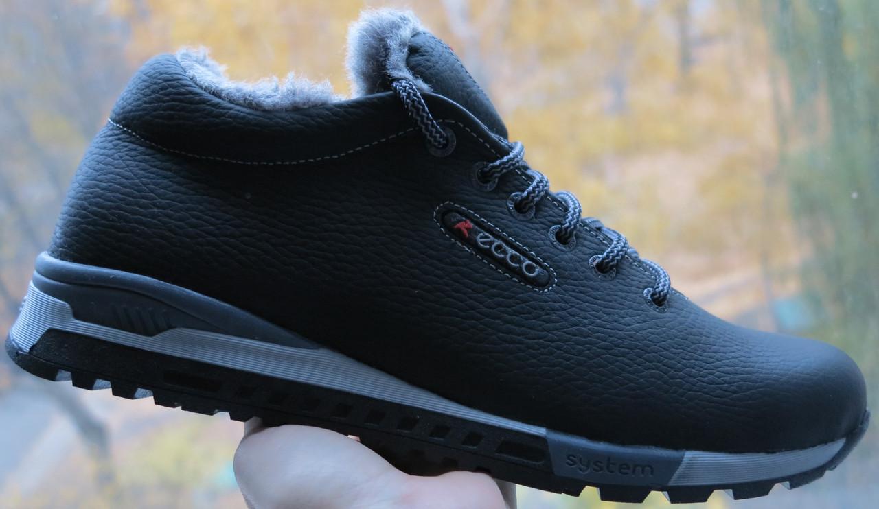 4aa0054d5cefcf Зимові чоловічі кросівки Ecco, натуральна шкіра супер якості, репліка Екко