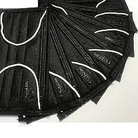 Маска медицинская, 4-х слойные, на резинке, с гибким носовым фиксатором, в упаковке 40 шт, Черные, фото 1