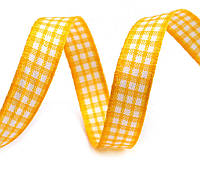Лента клетчатая желтая 10 мм