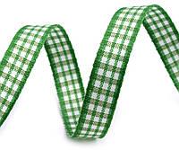 Лента клетчатая зеленая 10 мм