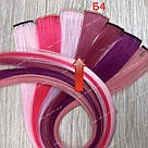 УЦЕНКА!! Цветные пряди на заколках малиновые, фото 3