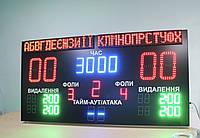 Светодиодное спортивное табло для гандбола с названиями команд