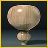 Ножка круглая гладкая деревянная точеная. Опора для тумбы, столика, комода, кровати. 150 мм