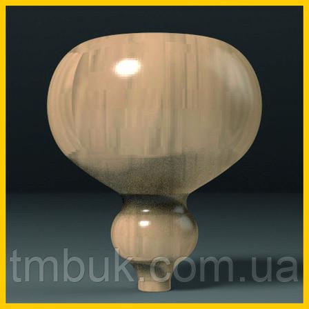 Ножка круглая гладкая деревянная точеная. Опора для тумбы, столика, комода, кровати. 150 мм, фото 2