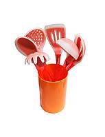 Набор силиконовых кухонных принадлежностей из 6-ти шт с подставкой