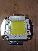 Cветодиод белый LED 50Вт, 6000К-6500К, питание 30-36В, 5000Lm.