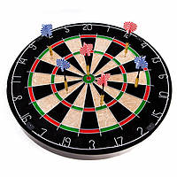 Мішень для гри в дартс пробкова (діаметр 45 см, в комплекті 6 дротиків)