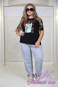 Женская футболка большого размера черная (р. 48-90) арт. Вкус