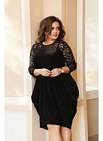 Женское платье Бриз черное / размер 48-72 / большие размеры
