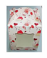 Коробка для торта, пряников, кондитерских изделий 170*170*210 мелованная письмо, фото 1