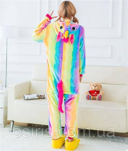 Пижама Кигуруми Единорог Радуга S (на рост 145-155)  продажа 1f515702c7528