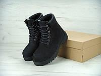 c5e247bc4 Зимние Ботинки Женские Timberland Black с Мехом, ботинки Тимберленд женские  черные, реплика