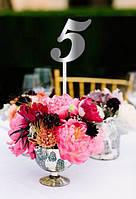 Номерки на стол для свадьбы, в ресторан, деревянные