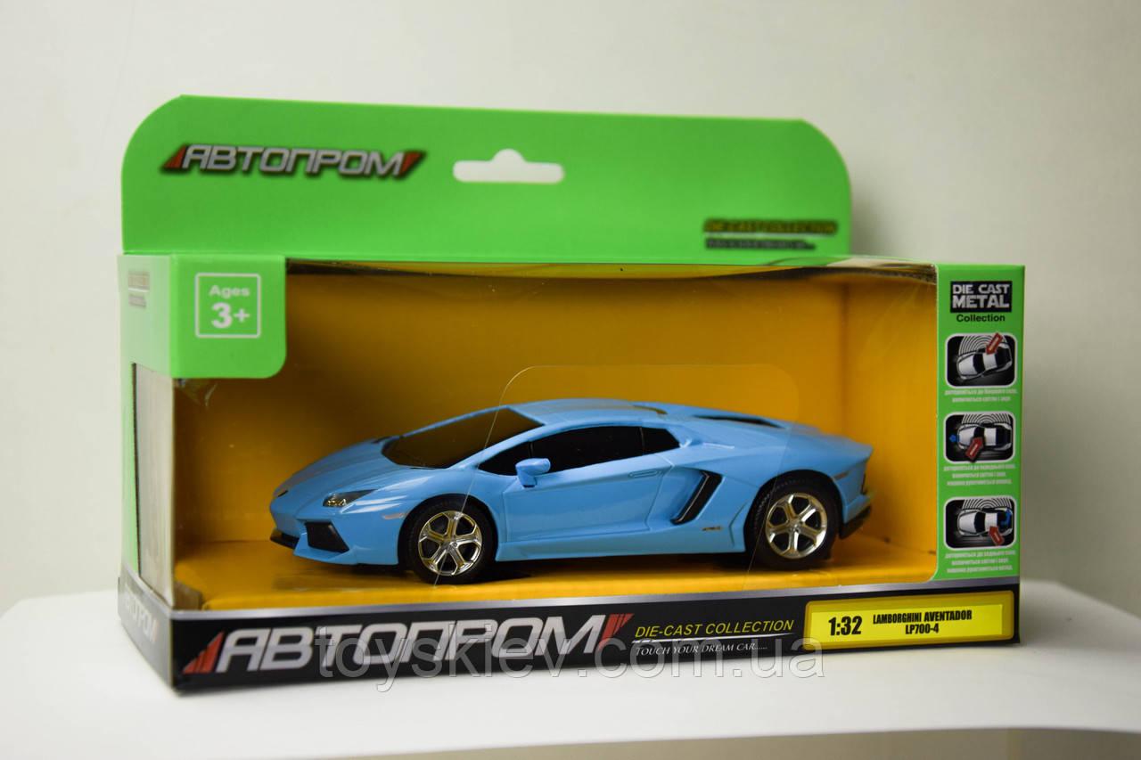 """Машина метал-пластик """"АВТОПРОМ"""" 1:32 Lamborghini Aventador 7604"""