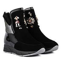 a92314d54809 Ботинки женские Brocoli (стильные, оригинальные, декорированные стразами) 37
